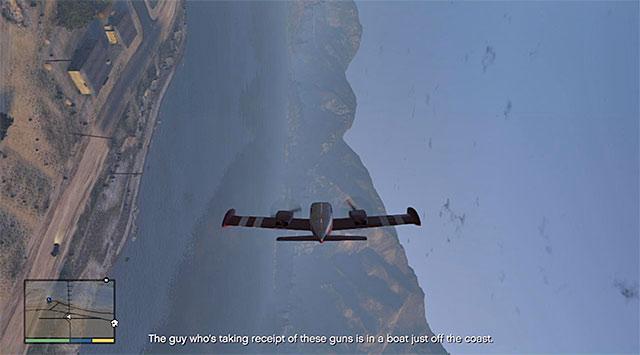 After the successful take-off, hide the gear and throw off the last one of the bikers - 18: Nervous Ron - Main missions - Grand Theft Auto V Game Guide