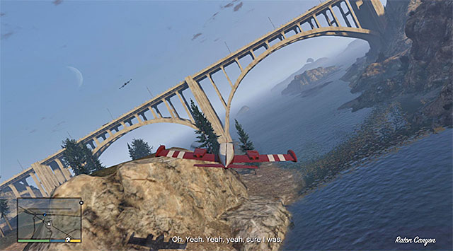Try to fly under all of the bridges that you pass by - 18: Nervous Ron - Main missions - Grand Theft Auto V Game Guide