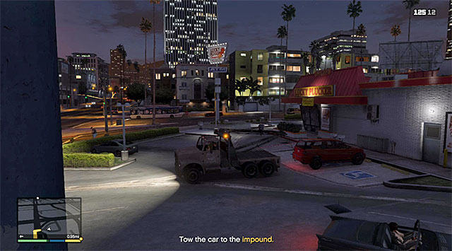 Hook at the back of the car - Pulling Another Favor - Strangers and Freaks missions - Grand Theft Auto V Game Guide