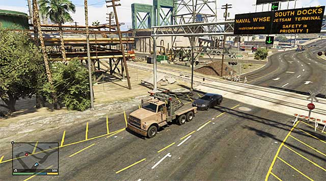 You need to quickly tug the car away from the tracks. - Pulling Favors Again - Strangers and Freaks missions - Grand Theft Auto V Game Guide