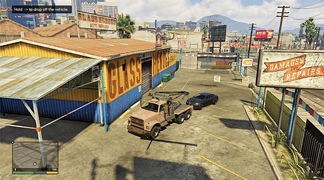 Leave the car next to the car garage building - Pulling Favors Again - Strangers and Freaks missions - Grand Theft Auto V Game Guide