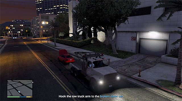 Hook onto the back of the broken down car - Still Pulling Favors - Strangers and Freaks missions - Grand Theft Auto V Game Guide