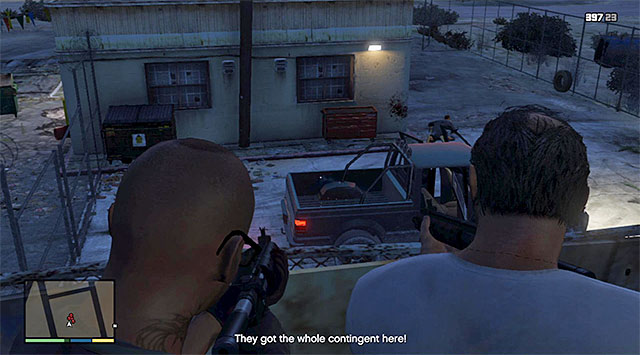 The balcony - 19: Trevor Philips Industries - Main missions - Grand Theft Auto V Game Guide