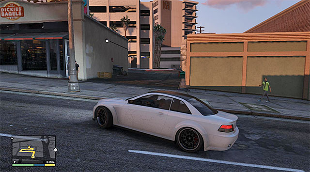 The alley to the underground parking lot - 23: Hotel Assassination - Main missions - Grand Theft Auto V Game Guide