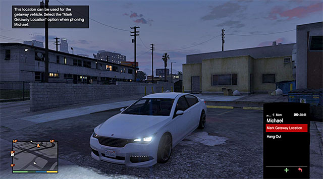 Leave the car in a side alley - 36: Getaway Vehicle - Main missions - Grand Theft Auto V Game Guide
