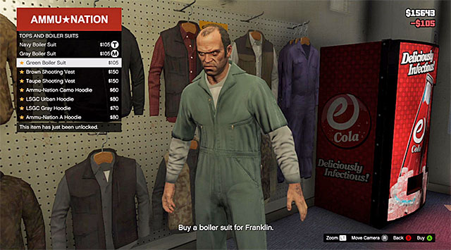 One of the three boiler suits - 40: Boiler Suits - Main missions - Grand Theft Auto V Game Guide