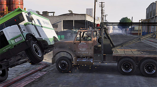 You need to slam into the armored vehicle - 41: Blitz Play #2 - Main missions - Grand Theft Auto V Game Guide