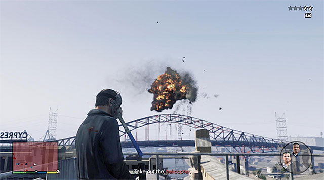 Shoot down the police chopper - 41: Blitz Play #2 - Main missions - Grand Theft Auto V Game Guide