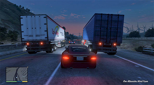 You need to be prepared for a long race, during which you need to focus entirely on overtaking the slower cars on the road - 42: I Fought the Law... - Main missions - Grand Theft Auto V Game Guide
