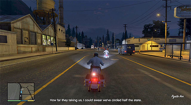 You need to watch out, especially while crossing a small town - 42: I Fought the Law... - Main missions - Grand Theft Auto V Game Guide
