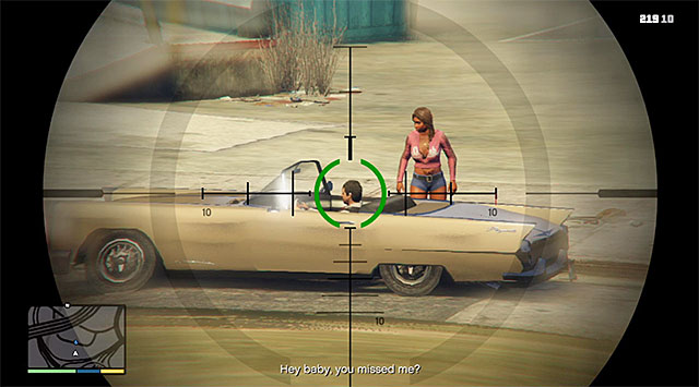 Get out of the car and climb the nearby hill - 44: The Vice Assassination - Main missions - Grand Theft Auto V Game Guide