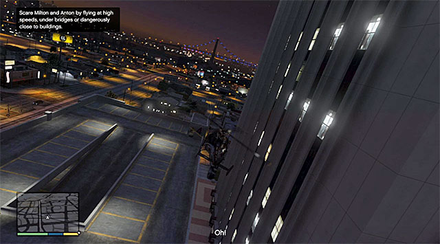 Keep flying right next to the tall buildings - 46: Mr. Richards - Main missions - Grand Theft Auto V Game Guide