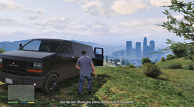 The van parked at the observatory - 47: Caida Libre - Main missions - Grand Theft Auto V Game Guide