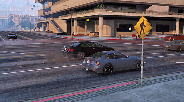 Use the spikes to get rid of the security cars - 48: Deep Inside - Main missions - Grand Theft Auto V Game Guide