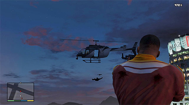 Try to shoot down the enemy helicopter - 50: The Construction Assassination - Main missions - Grand Theft Auto V Game Guide