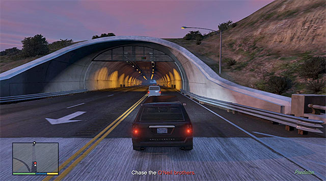 The moment when you start your chase after the ONeil brothers - 53: Predator - Main missions - Grand Theft Auto V Game Guide
