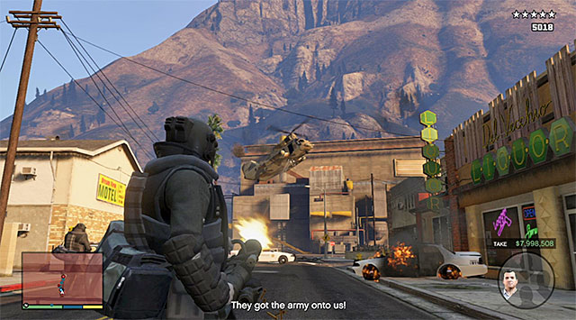 The military chopper - 54: The Paleto Score - Main missions - Grand Theft Auto V Game Guide
