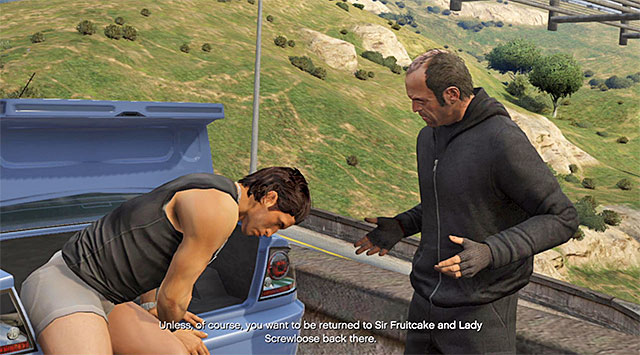 One of variants of behavior assumes freeing Di Napoli - Vinewood Souvenirs - The Last Act - Strangers and Freaks missions - Grand Theft Auto V Game Guide
