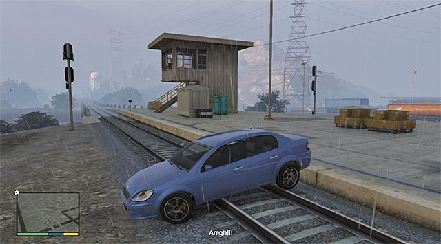 A way better option is to ignore the man and complete your journey to the train station - Vinewood Souvenirs - The Last Act - Strangers and Freaks missions - Grand Theft Auto V Game Guide