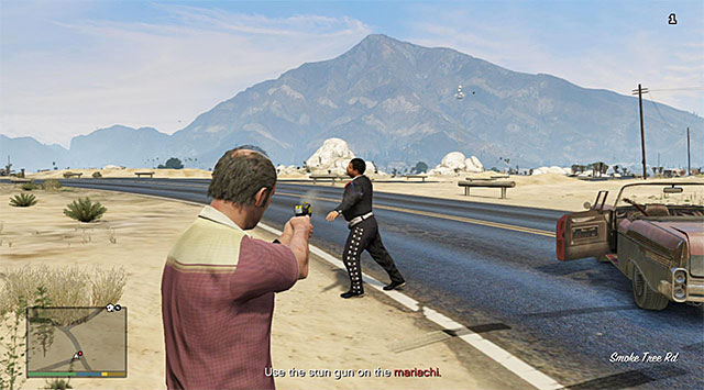You need to use the stun gun on the immigrants that you catch up with - The Civil Border Patrol - Strangers and Freaks missions - Grand Theft Auto V Game Guide
