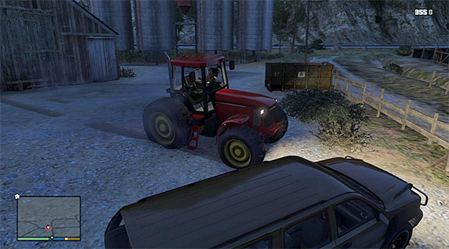 The tractor on which Joe is escaping - Minute Man Blues - Strangers and Freaks missions - Grand Theft Auto V Game Guide