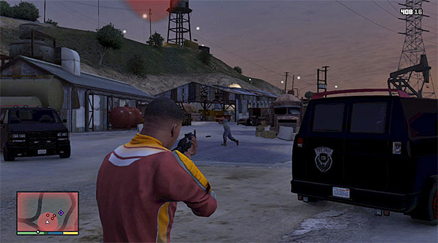 Deal with the first wave of gangsters - Car Scrapyard - Property missions - Grand Theft Auto V Game Guide