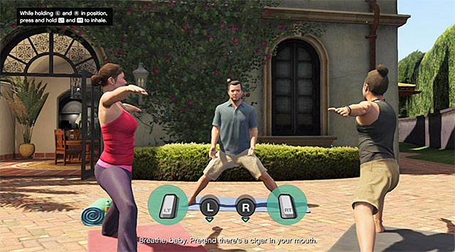 Breath in and out properly - 26: Did Somebody Say Yoga? - Main missions - Grand Theft Auto V Game Guide