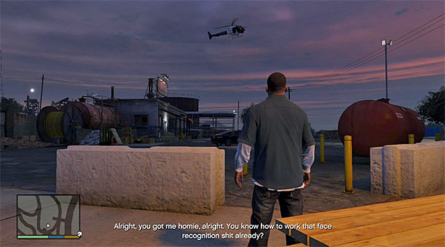 If you start off as Franklin, the mission will start when Trevor is already airborne - 43: Eye in the Sky - Main missions - Grand Theft Auto V - Game Guide and Walkthrough