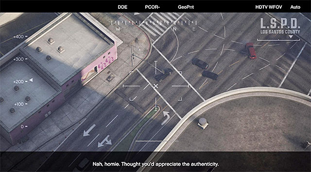 Track the speeding car with the camera - 43: Eye in the Sky - Main missions - Grand Theft Auto V - Game Guide and Walkthrough
