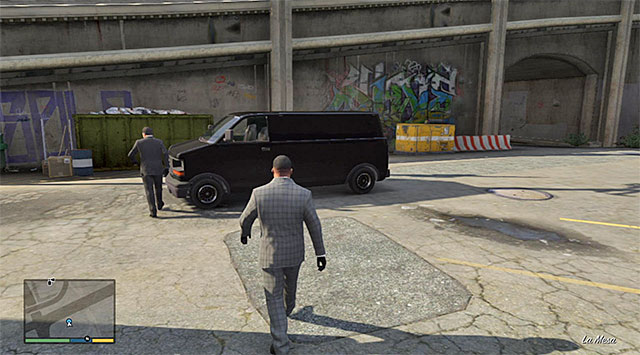 The van that you are going to use to get to the heist site - 13: The Jewel Store Job - the Loud variant - Main missions - Grand Theft Auto V Game Guide