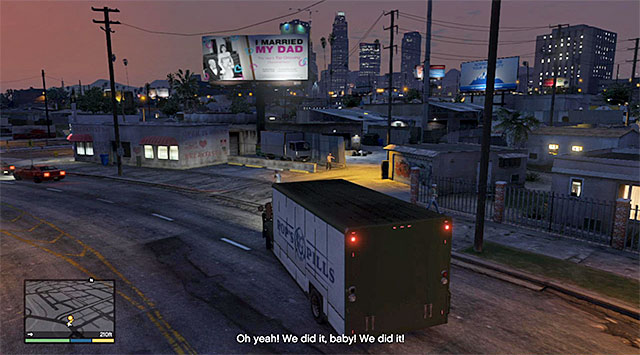 The location where the mission ends - 13: The Jewel Store Job - the Loud variant - Main missions - Grand Theft Auto V Game Guide
