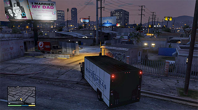 The location where the mission ends - 16: The Jewel Store Job - the Smart variant - Main missions - Grand Theft Auto V Game Guide