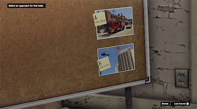 The moment of selection of the heist mode - 65: Architects Plans - Main missions - Grand Theft Auto V Game Guide