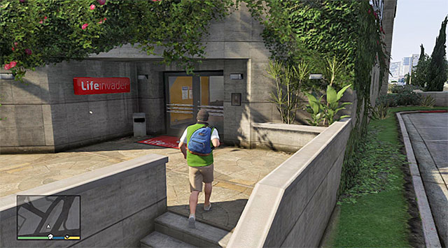 The back entrance to the company - 10: Friend Request - Main missions - Grand Theft Auto V Game Guide