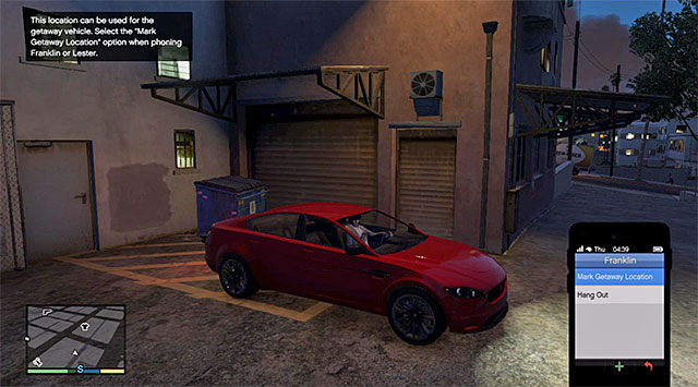Park your car in a side-alley, best in the center of the city near the FIB skyscraper - 66: Getaway Vehicle #2 - Main missions - Grand Theft Auto V Game Guide