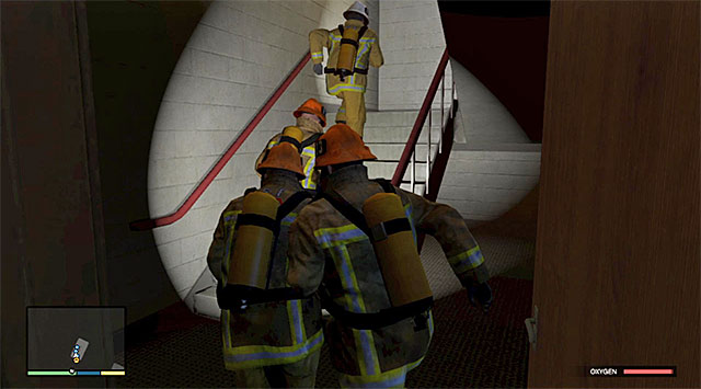 The staircase - 68: The Bureau Raid - the Fire Crew variant - Main missions - Grand Theft Auto V Game Guide