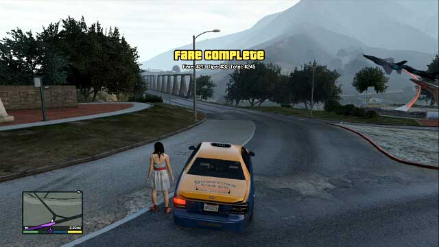 Each ride means additional cash - Taxi Cabs - Activities, Entertainment - Grand Theft Auto V Game Guide
