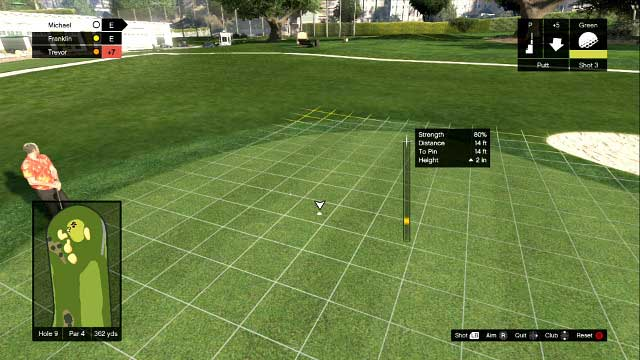 Finishing hits test precision, not strength - Golf - Activities, Entertainment - Grand Theft Auto V Game Guide
