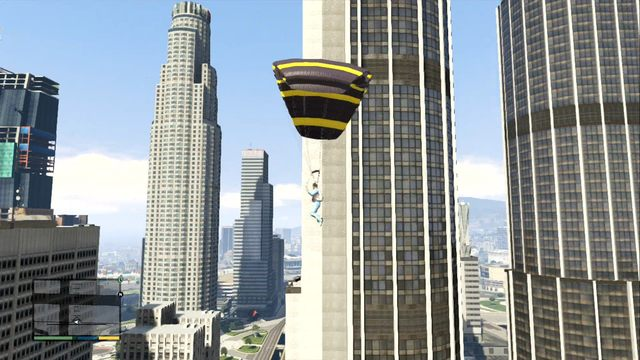 Jumping down from the skyscraper is healthy - Parachuting - Activities, Entertainment - Grand Theft Auto V Game Guide