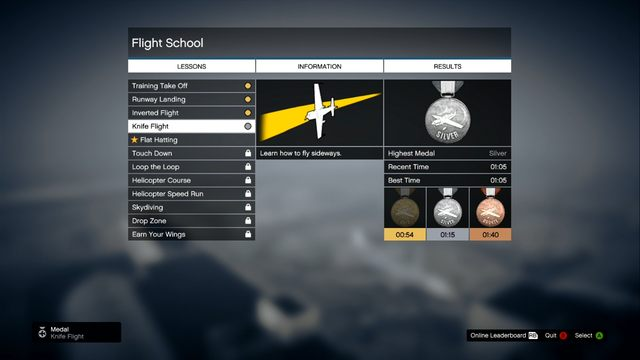 Flight School let you learn techniques - Flight School - Activities, Entertainment - Grand Theft Auto V Game Guide