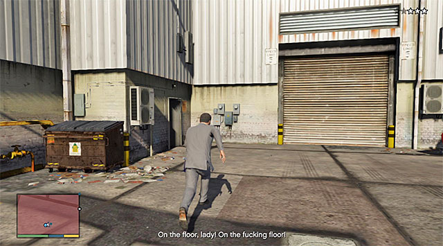 You need to enter the building - 71: Legal Trouble - Main missions - Grand Theft Auto V Game Guide