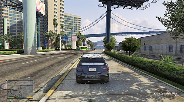 You can use one of the police cars to escape - 71: Legal Trouble - Main missions - Grand Theft Auto V Game Guide