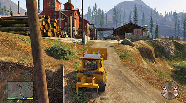 The bulldozer will help you avoid the enemy fire - 72: Lamar Down - Main missions - Grand Theft Auto V Game Guide