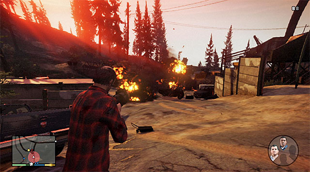 Blow up the gangsters cars - 72: Lamar Down - Main missions - Grand Theft Auto V Game Guide
