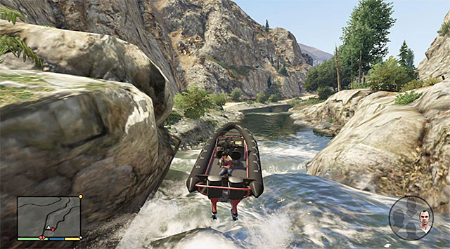 While playing as Michael you need to control the boat - 55: Derailed - Main missions - Grand Theft Auto V Game Guide