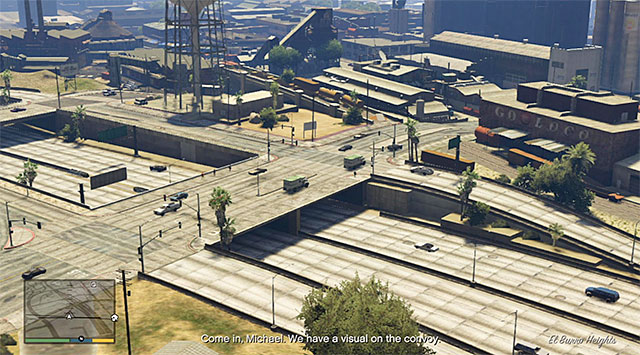 The convoy - 58: Surveying the Score - Main missions - Grand Theft Auto V Game Guide