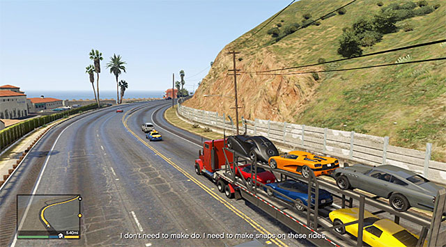 Leave Los Santos and start a long ride along the highway - 60: Pack Man - Main missions - Grand Theft Auto V Game Guide