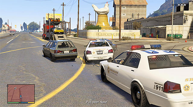 Road spikes are also a good way of losing the pursuit - 60: Pack Man - Main missions - Grand Theft Auto V Game Guide