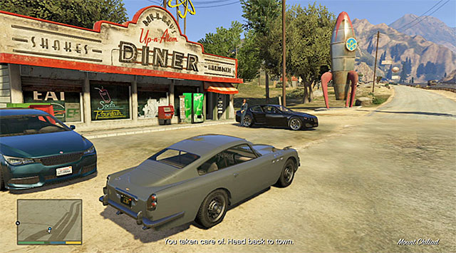 The place where the mission ends - 60: Pack Man - Main missions - Grand Theft Auto V Game Guide
