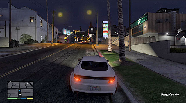 Keep within a safe distance from the car you follow - 63: Cleaning Out the Bureau - Main missions - Grand Theft Auto V Game Guide